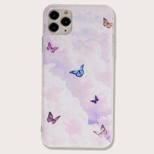Purple Butterfly Print Soft IPhone 11 Pro Max Case